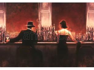 Фреска Городская романтика, свидание в баре | арт. 3419