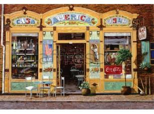 Фреска Городская романтика, городской бар | арт. 3433