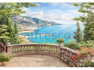 Вид с балкона, фреска affresco  4995