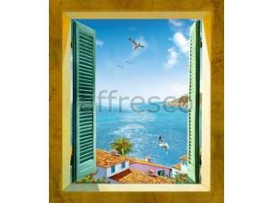 Фреска Окно на море, арт. 6357