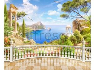 Вид с балкона на развалины, фреска Affresco  6404