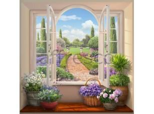 Вид на цветущий сад, арт. 6527