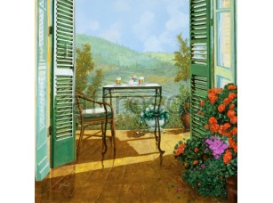 Живописный балкон,  6702