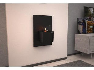 Биокамин Kvadro mini wall black