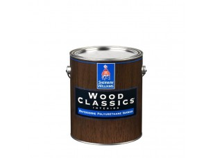 Полуматовый водный лак для дерева Wood Classic Waterborne Polyuretane Varnish Satin 0,95л