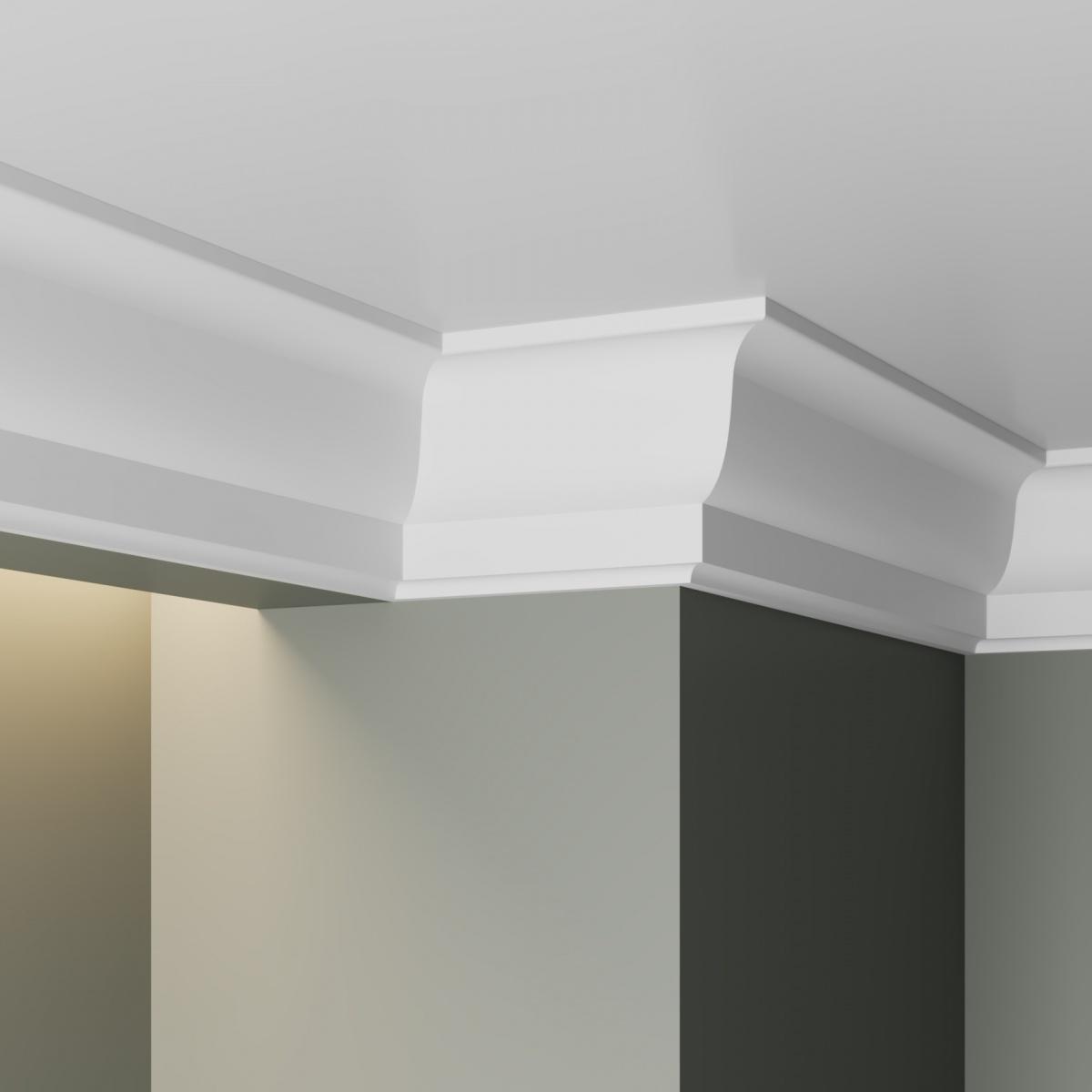 потолки с широкими плинтусами фото